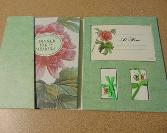 Shabby Chic Vintage Dinner Party Cards Place Settings & Album 1960-1970 Retro Kitsch Hostess Cards