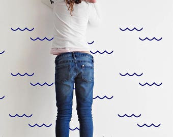 Wave wall stickers - Various Colours - Wall stickers - Set of 12