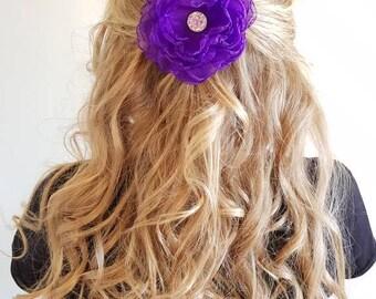 Peony Flower Hair Clip