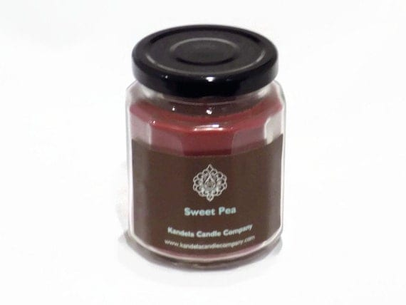 New and for a Limited Time! Sweet Pea Scented Candle in Twelve Sided Jar