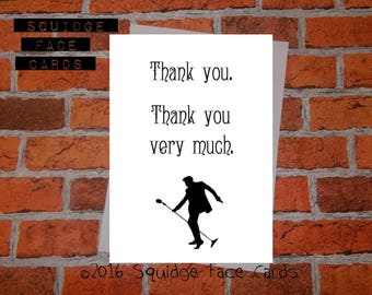 Thank you card - Thank you. Thank you very much. Apppreciation card. Elvis card
