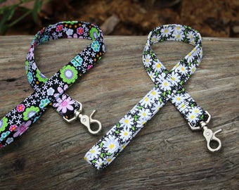 """22 inch lead leash, matching leash, leash set, add """"note to seller"""" with fabric choice"""