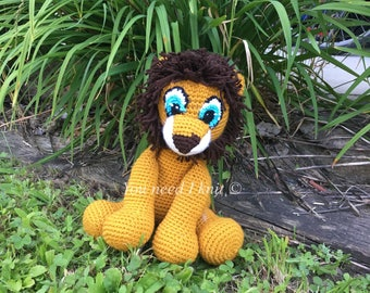 Lion amigurumi plush