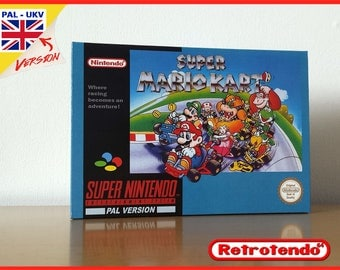 Super Mario Kart Super Nintendo SNES Reproduction Game Box & Inner Tray/Insert Only No Game PAL - FAH - Noe - Ntsc - Au  Verions Available