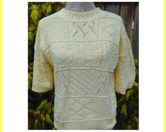 Cream Yellow Knitted Jumper