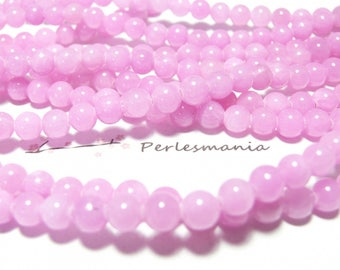 10 dyed jade beads 4mm pink