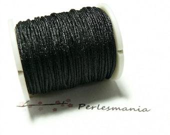 1 roll of 30 meters 0.8 mm wire nylon black shambala