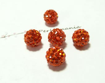 10 pearls 6mm orange quality shambala