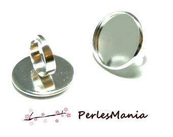 10 ring round 25 mm silver high quality materials