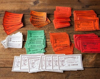 Set of 120 old antique never used pharmacy labels