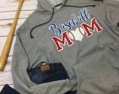Baseball Mom hooded sweatshirt hoodie