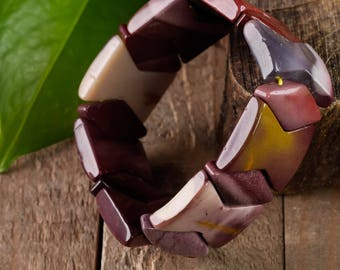 MOOKAITE JASPER Bracelet - Stretch Bracelet, Healing Crystal Jewelry, Mookaite Jewelry, Mookaite Bracelet, Mookaite Bead Bracelet E0758
