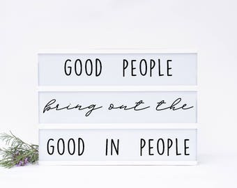 Good People Lightbox Insert Set