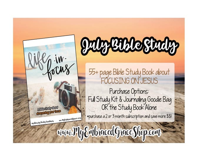 Featured listing image: LIFE IN FOCUS- July Bible Study & Journaling Kit!, Bible Journaling, Scrapbooking, paper crafts, Christian study