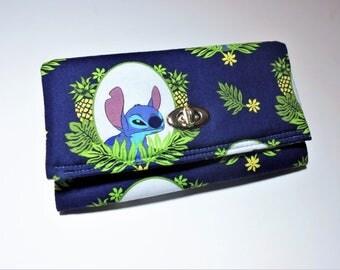 Disney's Stitch Wallet/Wristlet, Stitch Wallet, Stitch Wristlet, Handmade Wallet, Lilo and Stitch wallet, Disney, Disney gifts