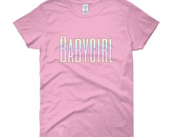 Babygirl T-shirt, Baby Girl DDLG Shirt, BSDM Pastel Kawaii Goth Shirt, Kink Crop Top Daddy Dom, Pastel Kittenplay