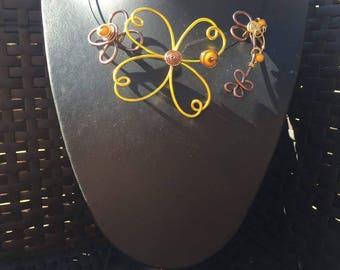 Pendant jewelry yellow aluminum wire