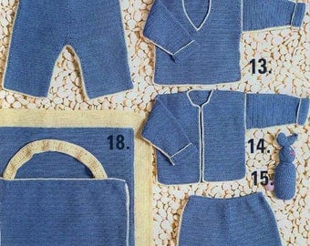 Baby Treble Layette, 9 Patterns, Crochet Pattern.  PDF Instant Download.
