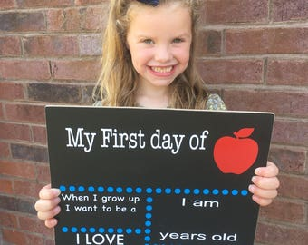 First Day of School Chalkboard - First Day of School Sign - First Day of School - First Day of School Chalkboard Sign - Back To School Sign