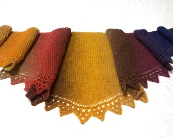 Бактус шаль шарф shawl scarf  knitting wool 100%