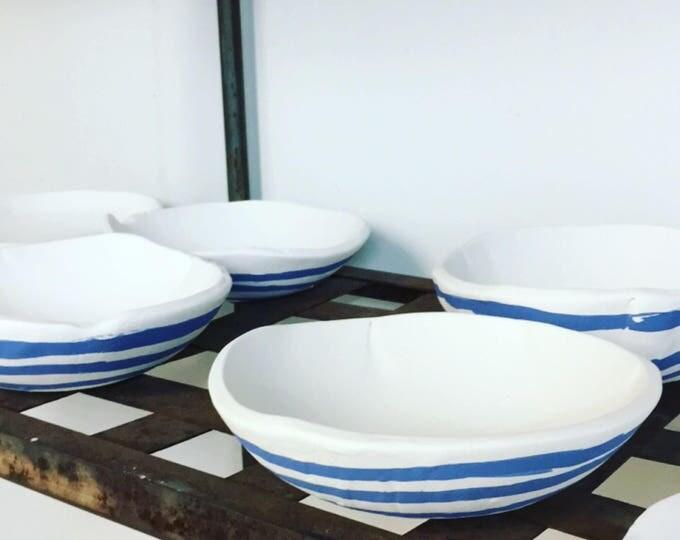 Blue Stripe Bowls
