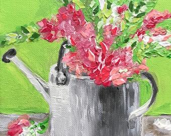 "ORIGINAL Acrylic Painting ""Garden Flowers"""
