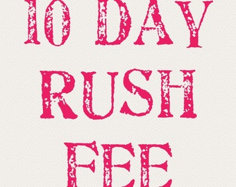 10 Day Rush Fee for A-Frames