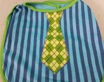 Tie bib for infant boy!