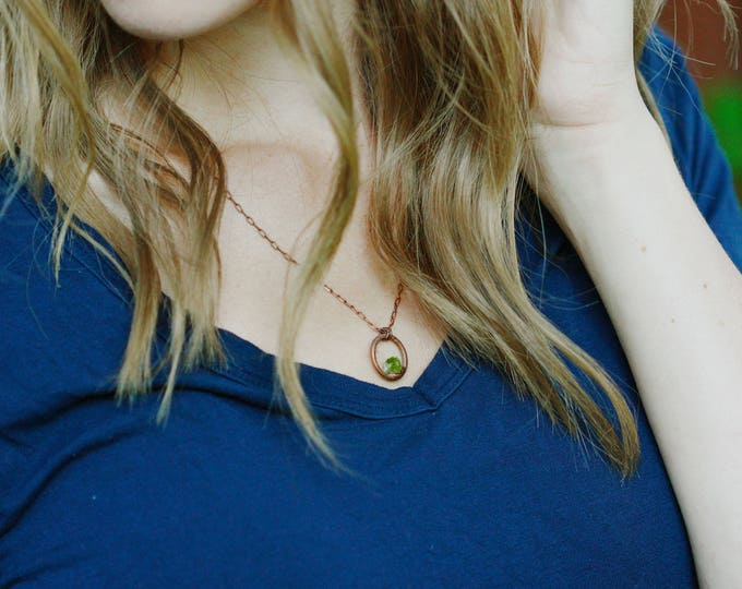 Peridot Necklace // August Birthstone