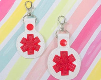 Medic ID snap tab