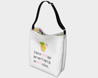 "Bag for teacher and teacher ""Miss pineapple"""