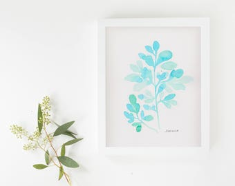 "3 original artwork ""leaf"" watercolor"