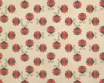 Cute Ladybugs Kraft Present Gift Wrap Wrapping Paper