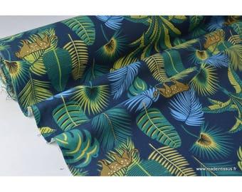 Tissu coton imprimé jungle x50cm