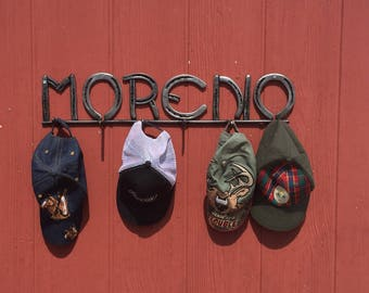 Horseshoe Name Ball Cap Rack