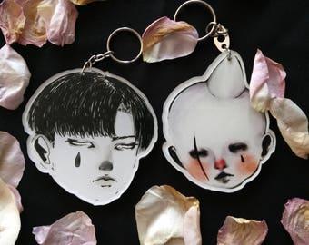 Melancholic duo keychain
