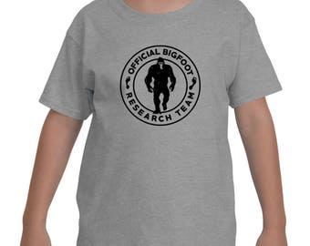 Official Bigfoot Research Team Wild Hunting Outdoor Sasquatch Yeti Chupacabra Bigfoot shirts Youth Kids