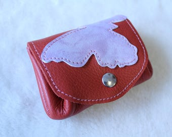 leather wallet. wallet; Butterfly wallet, woman wallet