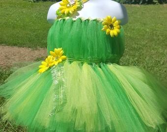 Green Tinkerbell Tutu Dress