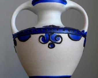 Vintage 60-70's MAREI KERAMIK Brügge 9302 Vase West German Pottery Fat Lava Era