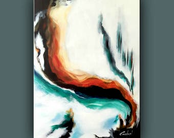 """Original Painting, Contemporary Art, Abstract Painting, Modern Painting, FinArt, Acrylic on Canvas, 32""""x24"""" Ready to Hang Art"""