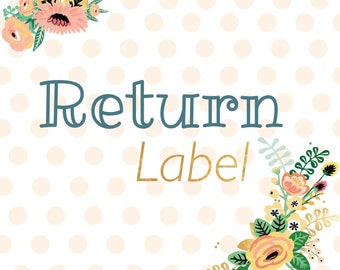 Purchase for Postage - New Address / Return Label