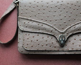 Bag of imitation ostrich leather from the 1960'