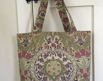 Tote Bag, tote, weekend bag, arts and crafts, christmas gift, gift for her, birthday gift, William Morris, handmade, shopping bag, handbag