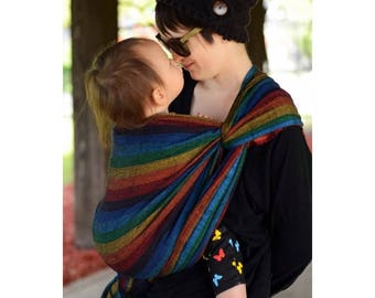 Baby wrap yee black, babywearing, baby carrier, handwoven