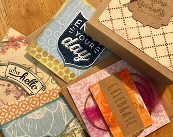 Assorted mini note cards in gift box