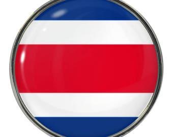 Costa Rica Flag Image on Metal Fridge Magnet