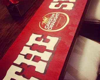 THE SHED or  BAR - Customised Timber Sign W120cm X H34cm