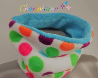 ¤ Snood, kids scarf printed bubbles 6/12 years.