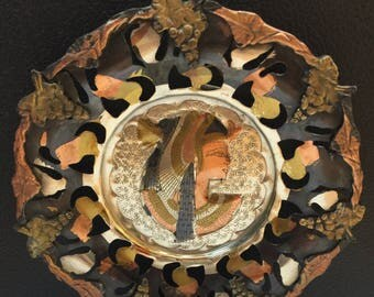 Egyptian Copper Plate,  Egyptian Pharaoh Wall Decor, Khan el-Khalili Souvenir